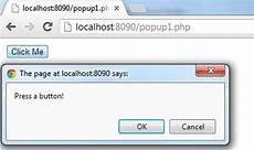 popup boxes in php