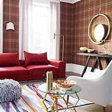 livingroom wallpaper tartan decorating ideas ideal home