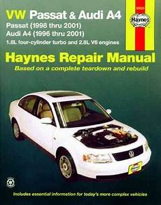 online car repair manuals free 2001 volkswagen rio electronic throttle control vw volkswagen passat audi a4 1996 2001 haynes service repair manual sagin workshop car manuals