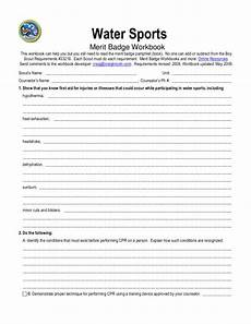 water sports activity worksheets 15751 water sports merit badge worksheet for 5th 12th grade lesson planet