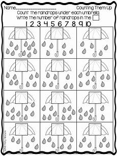 weather math worksheets preschool 14622 umbrella worksheet count the raindrops each umbrella free from at