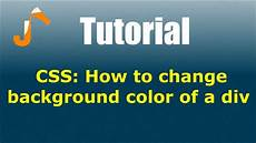 html div background css how to change background color of a div