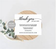 thank you card template business business thank you card template etsy seller thank you
