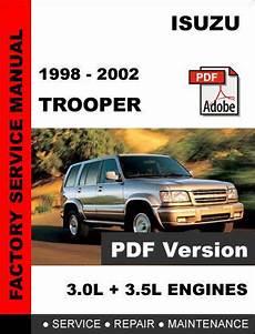 online auto repair manual 1995 isuzu trooper free book repair manuals isuzu trooper 1998 2002 ultimate factory official oem service repair manual service repair