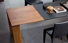 table extensible 180 250 90 cm verre noyer
