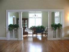 seperating a living room and dining room built in