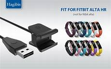 com hagibis fitbit alta hr charger with reset button replacement charging cable with