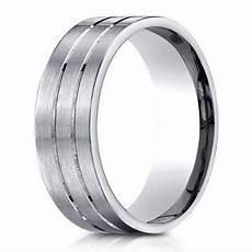 designer palladium wedding ring in satin finish 6mm