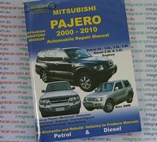 book repair manual 2002 mitsubishi pajero user handbook mitsubishi pajero 2000 2010 petrol diesel repair manual