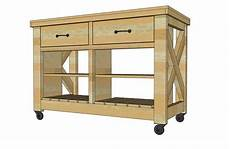 Kitchen Island On Wheels Plans by White Rustic X Kitchen Island Diy Projects