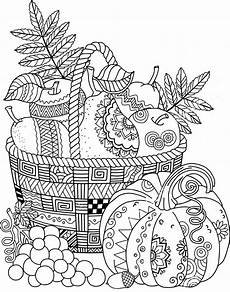 fruit basket zentangle coloring page fall coloring pages