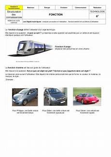 fonction d usage d une voiture objets techniques et fonctions 6 176 objets techniques