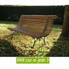 banc de jardin bois cos pieds fonte 150cm