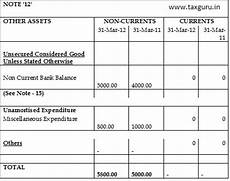 how to disclose preliminary expenses in revised schedule vi