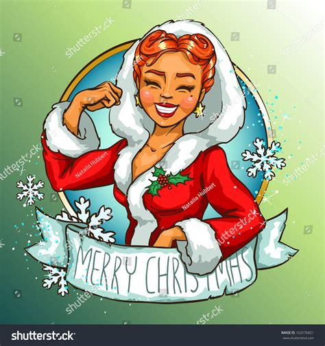 Christmas Pin Up Girl Vintage