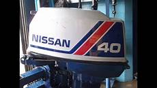 6m4306 used 1986 nissan ns40cep2 40hp 2 stroke remote outboard boat motor 20 quot shaft youtube