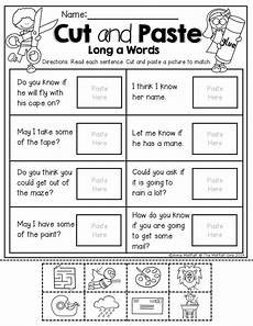 cut and paste reading comprehension worksheets i can read simple sentences no prep 3 simple sentences cut and paste and simple