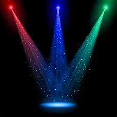 rainbow stage spotlights vector background 01 download my free photoshop world
