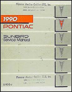 how to download repair manuals 1987 pontiac bonneville interior lighting 1990 pontiac sunbird repair shop manual 90 se le gt original service oem book ebay