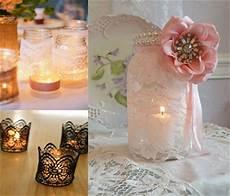 come decorare candele arredare con romantici pizzi e merletti la figurina
