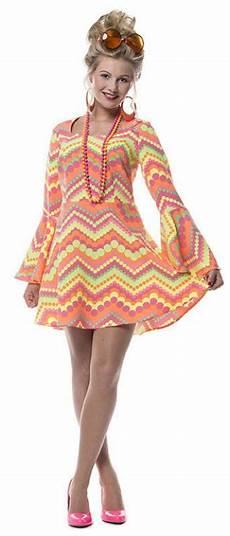 90er Damen - 70er 80er jahre kleid kost 252 m flowerpower damen hippie