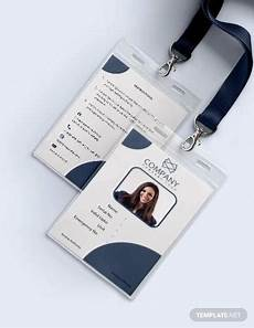 free 35 amazing id card templates in illustrator ms