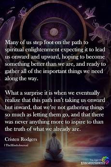 many of us step foot the path to spiritual enlightenment