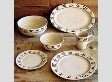 Western dinnerware, dishware, goblets, branded dinnerware