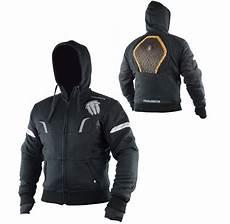 Motorrad Hoodie Mit Protektoren - trilobite kevlar hoodie illenius schwarz cs bikewear