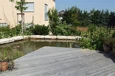 Holzterrasse Mit Teich Immergr 252 N Steinheim