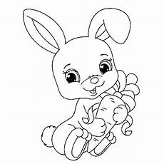 rabbit free to color for children rabbit coloring pages