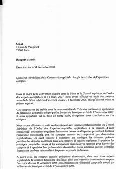 démission solde tout compte les comptes du s 233 nat de l exercice 2008