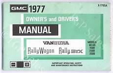 service and repair manuals 1994 gmc rally wagon 2500 parking system gmc 1977 owner driver s manual x 7705a vandura rally wagon stx tgp sales a subsidiary of