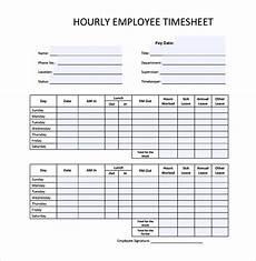 18 hourly timesheet templates free sle exle