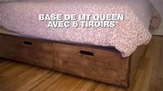 construire une base de lit avec tiroirs