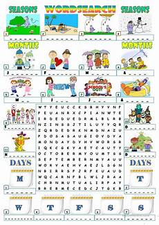 seasons worksheets printable 14749 seasons months days wordsearch worksheet free esl printable worksheets made by teachers