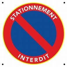 Panneau Interdiction De Stationner En Pvc Pas Cher