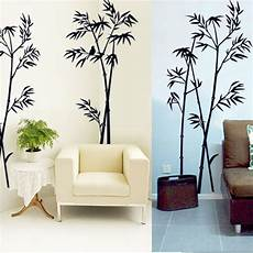home decor wall stickers diy black bamboo quote wall stickers decal mural wall