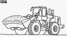 drawing tractor backhoe and excavator coloring