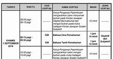 upsr time table and countdown to upsr 2016 parenting times