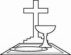 kelch und kreuz ausmalbild malvorlage religion