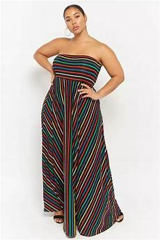 Weily Maxi product name plus size striped maxi dress category