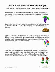 percent word problems worksheets common 10986 percentage word problems 2 worksheet education