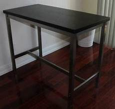 75 ikea utby bar table brown black stainless steel for