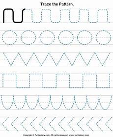 pattern tracing worksheet turtle diary