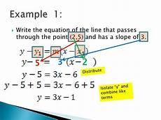 writing the equations of lines point slope form