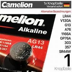 knopfzellen lr44 10x camelion lr44 knopfzellen v13ga ag13 sr44w gp76a mhd