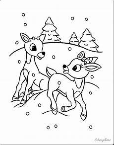 rentier weihnachten malvorlagen f 252 r kinder kostenlos