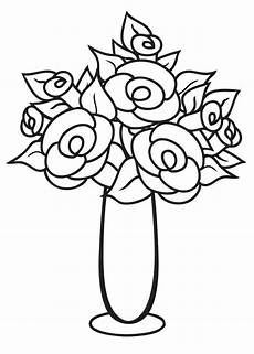 Ausmalbilder Blumenvase Thin And Flower Vase Coloring Page Coloring Sky