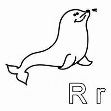 Ausmalbilder Buchstaben R Kostenlose Malvorlage Buchstaben Lernen Ausmalbild R Zum